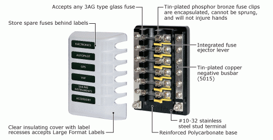 125 marine fuse block, 6 circuit, 12v $34 26 zen cart!, the art of marine fuse box at gsmx.co